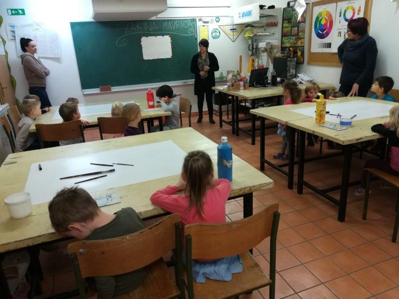 Ura likovne vzgoje in matematike v vrtcu